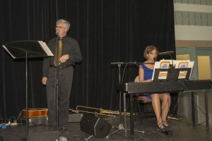 Carol Salamone gave us our third winning song for our Song Writing Contest. She was accompanied by Lyle Corrigan