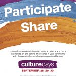Culture Days are almost here!