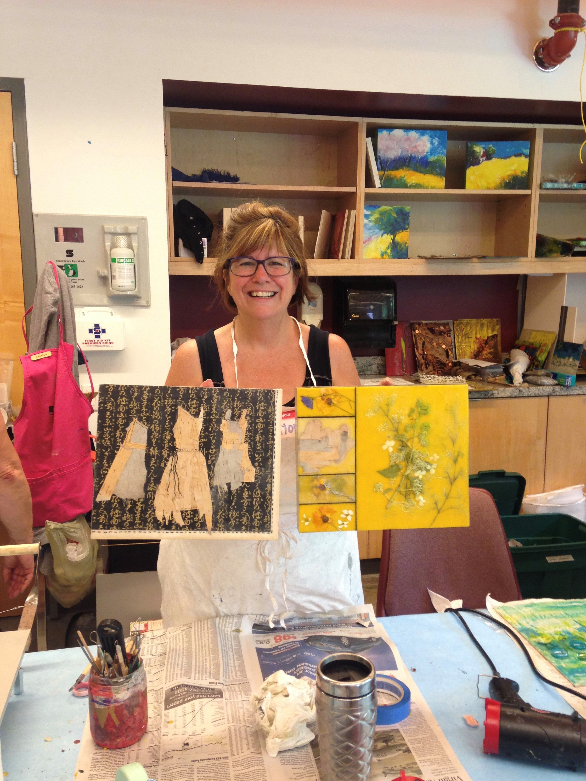 Encaustic Painting Demonstration with Marion Meyers