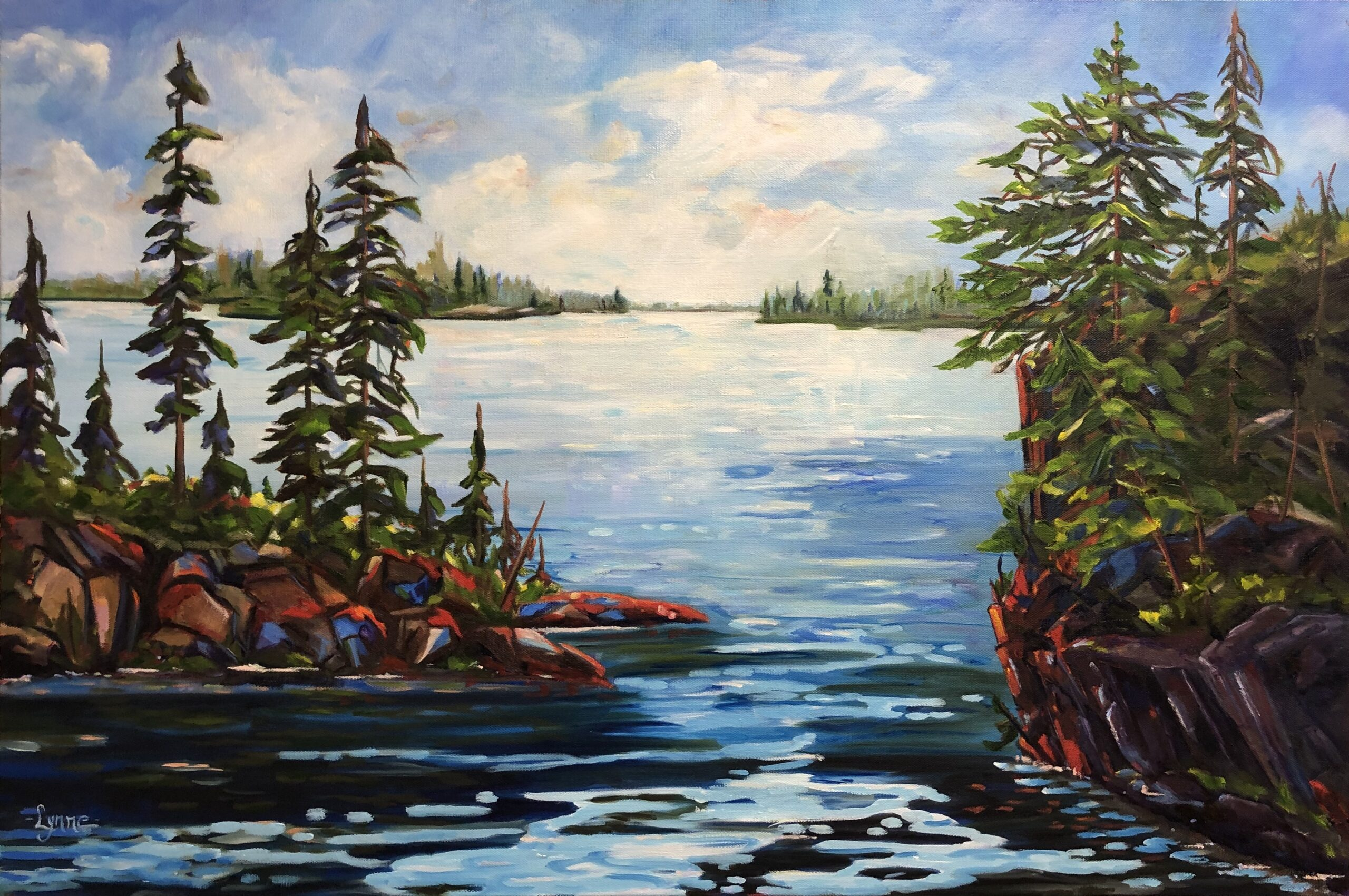Painting of the Muskokas by Lynne Rempel.