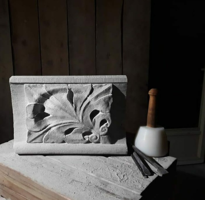 Indiana Limestone sculpture by Jordan Clements.